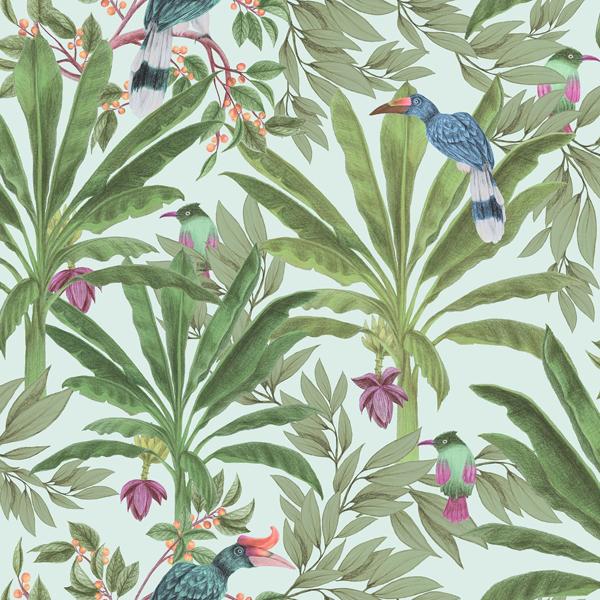 Picture of Carola Green Jungle Tropics Wallpaper