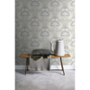 Picture of Joaquin Light Grey Art Nouveau Floral Wallpaper