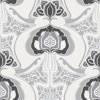 Picture of Joaquin Black Art Nouveau Floral Wallpaper