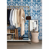 Picture of Vera Blue Floral Damask Wallpaper