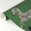 Picture of Serengeti Green Zebra Safari Scalamandré Self Adhesive Wallpaper