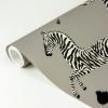 Picture of Grey Zebra Safari Scalamandré Self Adhesive Wallpaper