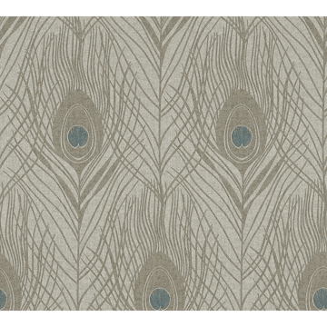 Picture of Prosperity Bronze Feather Wallpaper