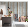 Picture of Chapin Blue Beachwood Wallpaper