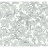 Picture of Beaufort Light Grey Peony Chinoiserie Wallpaper