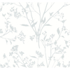 Picture of Southport Light Grey Delicate Branches Wallpaper