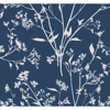 Picture of Southport Navy Delicate Branches Wallpaper