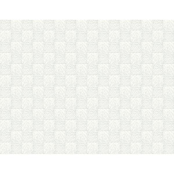 Picture of Calabash Light Grey Rope Basketweave Wallpaper