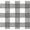 Picture of Scarborough Black Striated Plaid Wallpaper