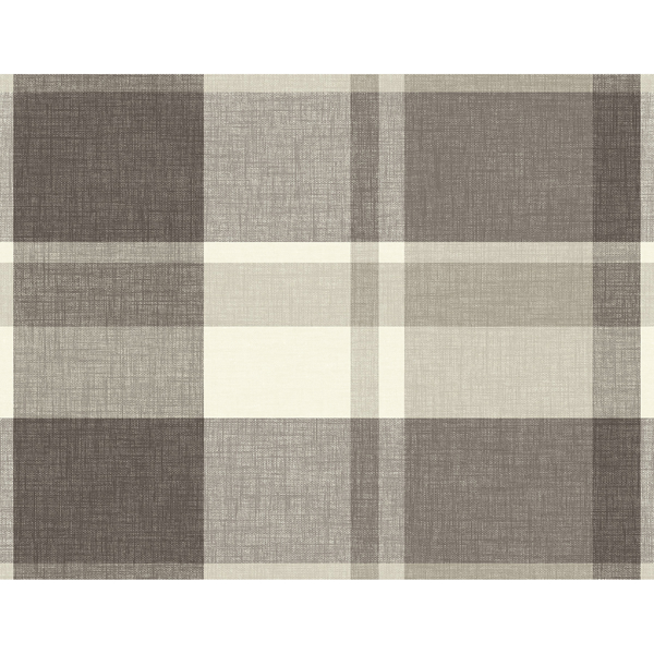 Picture of Madaket Charcoal Plaid Wallpaper