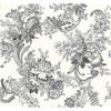 Picture of Carmel Black Baroque Florals Wallpaper
