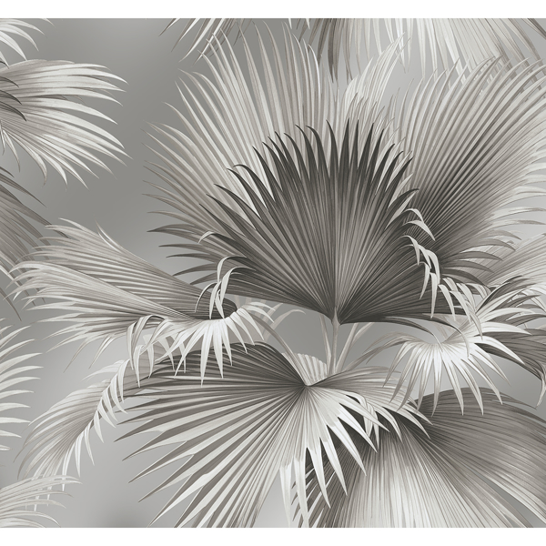 Picture of Summer Palm Platinum Tropical Wallpaper