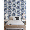 Picture of Summer Palm Blue Tropical Wallpaper