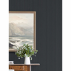 Picture of Sebasco Black Vertical Pinstripe Wallpaper
