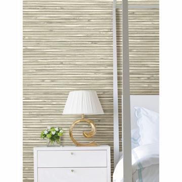 Picture of Bellport Ivory Wooden Slat Wallpaper
