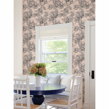 Picture of Carmel Blush Baroque Florals Wallpaper
