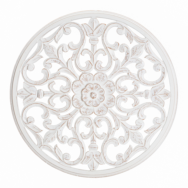Picture of Bastia White 30in Round Medallion