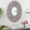 Picture of Tagen Grey Carved Mirror