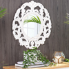 Picture of Foley White Carved Mirror
