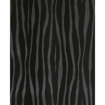 Picture of Burchell Black Zebra Flock Wallpaper