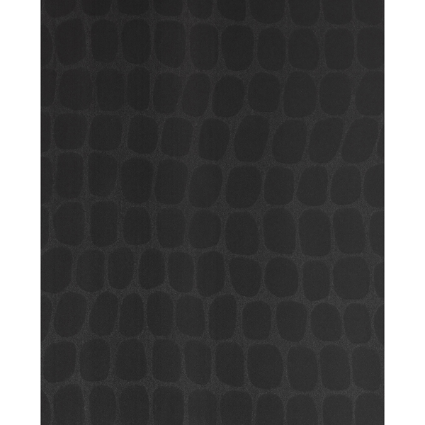 Picture of Hyde Black Graphic Croc Flock Wallpaper