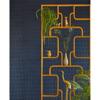 Picture of Hyde Indigo Graphic Croc Flock Wallpaper