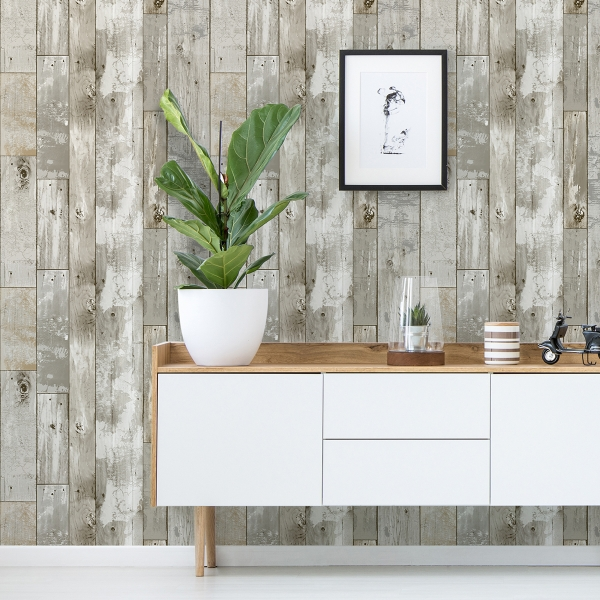 Picture of Driftwood Peel and Stick Wallpaper