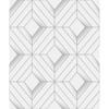 Picture of Filmore White Diamond Panes Wallpaper