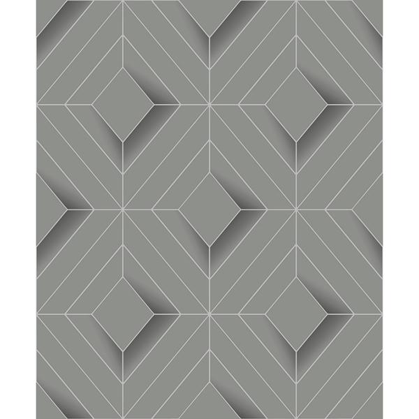 Picture of Filmore Grey Diamond Panes Wallpaper