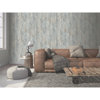 Picture of Huck Light Blue Weathered Wood Plank Wallpaper