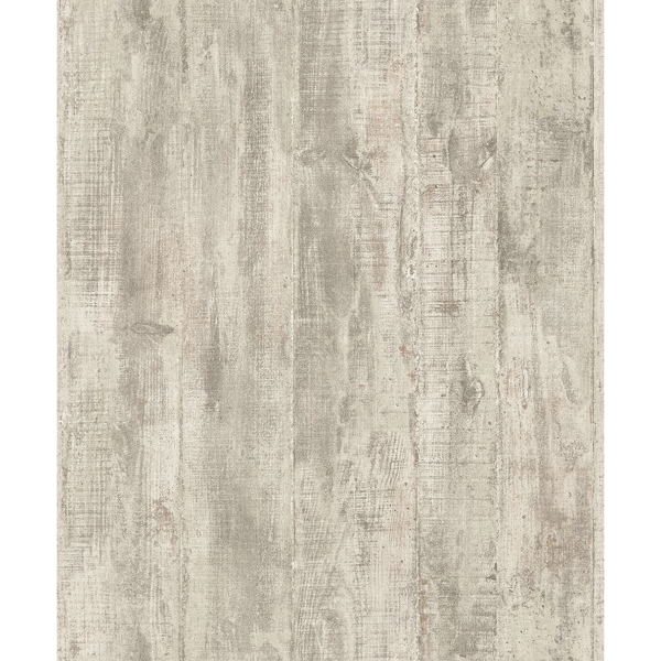 Picture of Huck Khaki Weathered Wood Plank Wallpaper