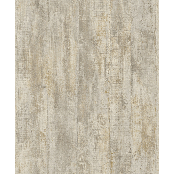 Picture of Huck Taupe Weathered Wood Plank Wallpaper