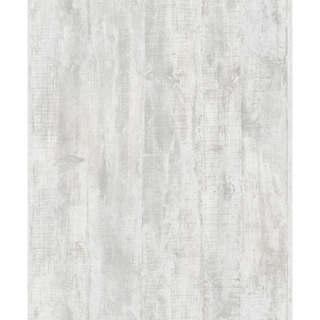 Picture of Huck Light Grey Weathered Wood Plank Wallpaper