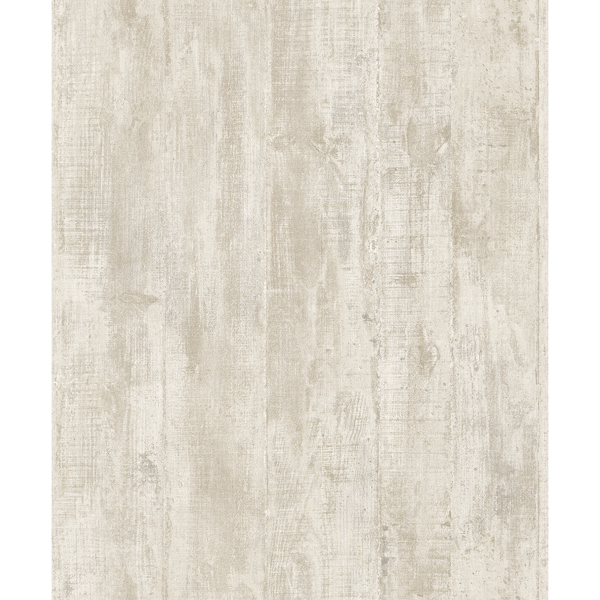 Picture of Huck Cream Weathered Wood Plank Wallpaper
