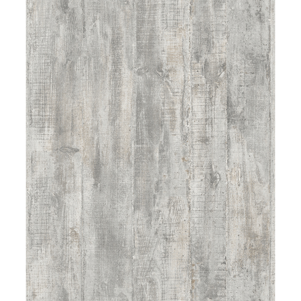 Picture of Huck Grey Weathered Wood Plank Wallpaper