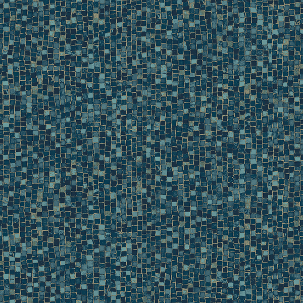 Picture of Ziggy Teal Stone Mosaic Wallpaper