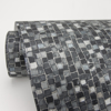 Picture of Ziggy Charcoal Stone Mosaic Wallpaper
