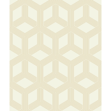 Picture of Xander Cream Glam Geometric Wallpaper