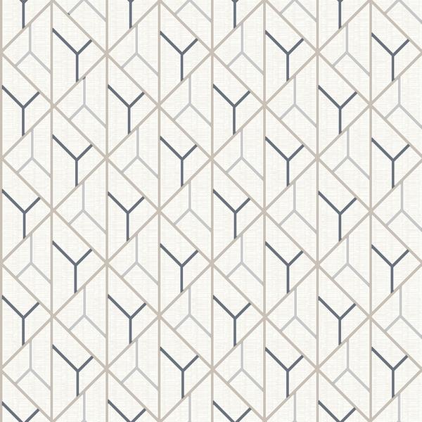 Picture of Wilder Cream Geometric Trellis Wallpaper