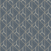 Picture of Wilder Blue Geometric Trellis Wallpaper
