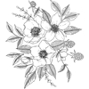 Picture of Love Karla Designs Anemone and Blackberry Wall Decals