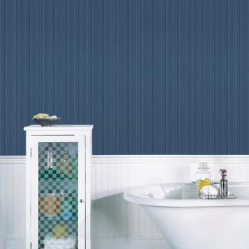 Picture of Sebasco Denim Vertical Pinstripe Wallpaper