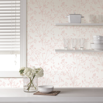 Picture of Southport Blush Delicate Branches Wallpaper