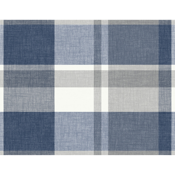 Picture of Madaket Indigo Plaid Wallpaper