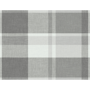 Picture of Madaket Dark Grey Plaid Wallpaper