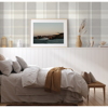 Picture of Madaket Light Grey Plaid Wallpaper