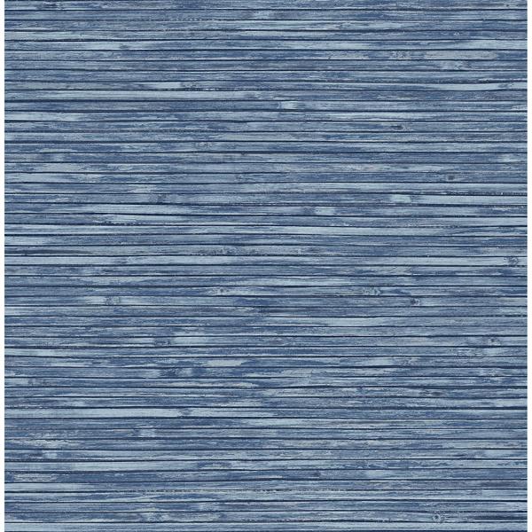 Picture of Bellport Denim Wooden Slat Wallpaper