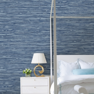 Picture of Bellport Denim Wooden Slat Wallpaper
