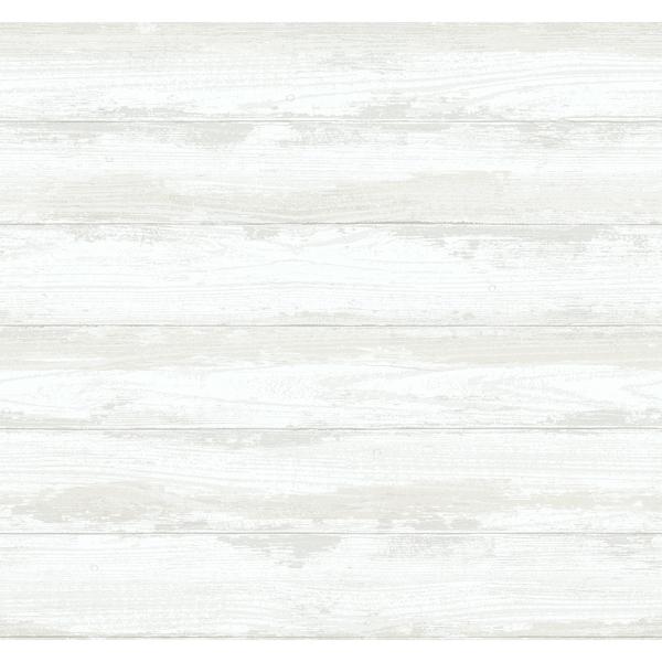 Picture of Truro Bone Weathered Shiplap Wallpaper