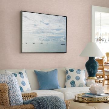 Picture of Tiverton Blush Faux Grasscloth Wallpaper